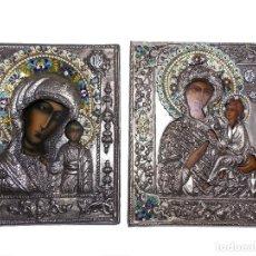 Arte: ICONO RELIGIOSO POLACO VINTAGE 2 ICONOS. Lote 114007895