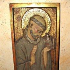 Arte: RETABLO RELIGIOSO PRICIPIO DEL SIGLO XX FIRMADO MUY BONITO MEDIDAS 0,55 X 0,30. Lote 114185171