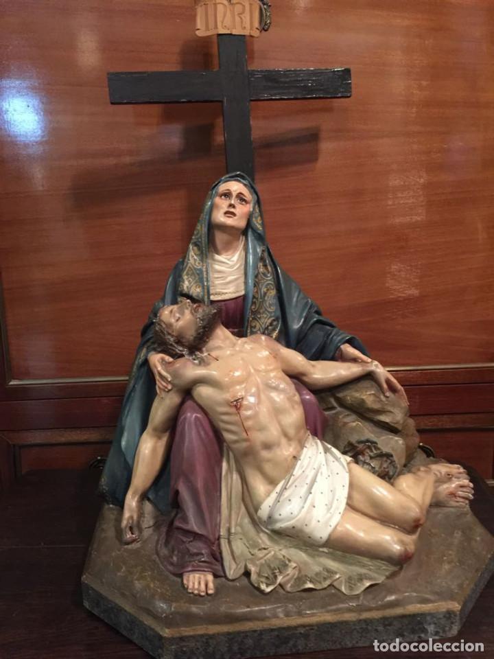 TERRACOTA PIEDAD (42 X 39 CMS.) (Arte - Arte Religioso - Escultura)