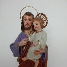 Arte: SAN JOSE CON EL NIÑO JESUS BENDICIENDO - S. XIX. Lote 114265455