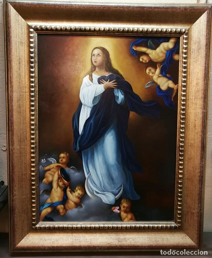 OLEO VIRGEN. (Arte - Arte Religioso - Pintura Religiosa - Oleo)