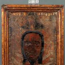 Arte - Cordobán policromado y dorado representando la Santa Faz escuela española siglo XVI - 114343499