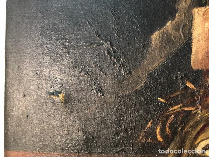 Arte: PINTURA CRISTO OLEO SOBRE TELA PARA RESTAURAR, FIRMADO E.ROVIRA. - Foto 8 - 114419947