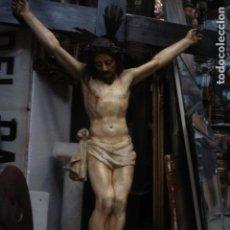 Arte: IRREPETIBLE TALLA DE CRISTO DE TRES CLAVOS SXIX. Lote 96210563