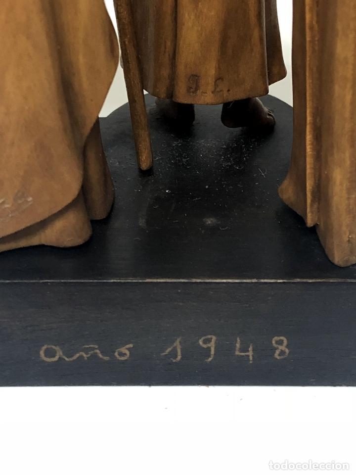Arte: CAPILLA DE LA SAGRADA FAMILIA - TALLA EN CAOBA Y BOJ - J. LANZA - 1948 EXTRAORDINARIA OBRA DE ARTE - Foto 43 - 114542195
