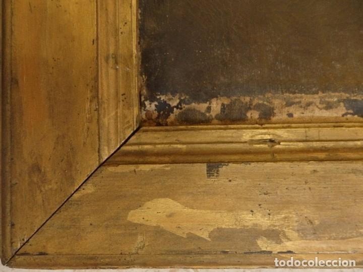 Arte: Virgen con Niño. Oleo sobre lienzo. Siglos XVIII-XIX. Medidas de 83 x 70 cm. - Foto 13 - 114659739