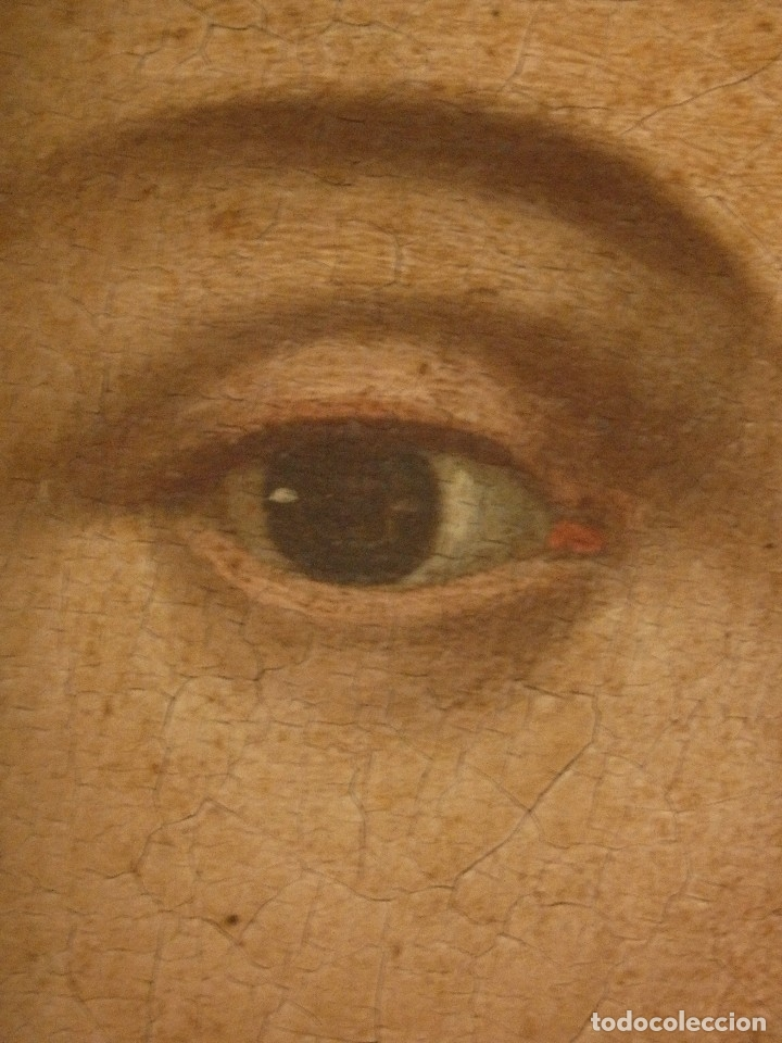 Arte: Virgen con Niño. Oleo sobre lienzo. Siglos XVIII-XIX. Medidas de 83 x 70 cm. - Foto 18 - 114659739