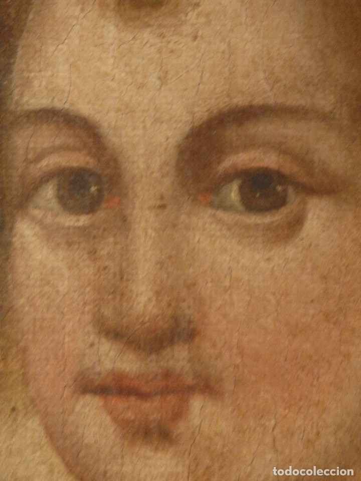 Arte: Virgen con Niño. Oleo sobre lienzo. Siglos XVIII-XIX. Medidas de 83 x 70 cm. - Foto 20 - 114659739