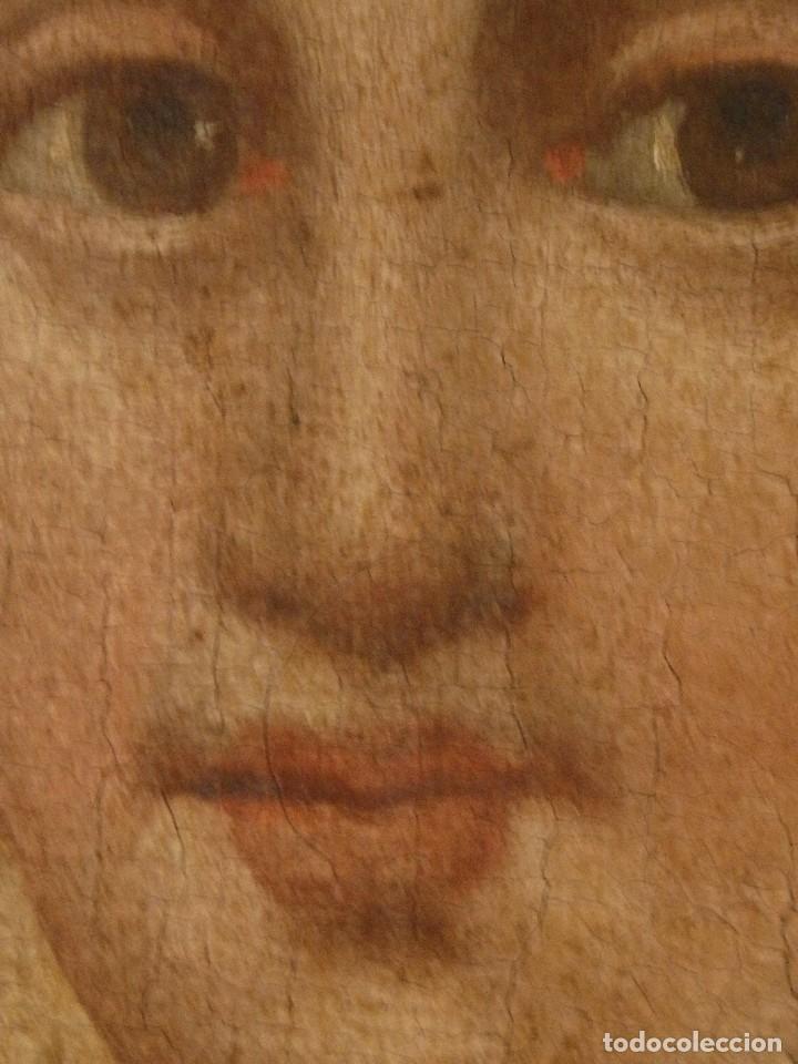Arte: Virgen con Niño. Oleo sobre lienzo. Siglos XVIII-XIX. Medidas de 83 x 70 cm. - Foto 21 - 114659739