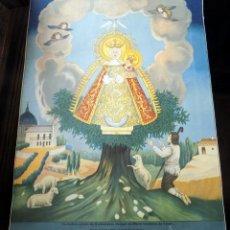 Arte: ANTIGUA LITOGRAFIA, COLOREADA, PRINCIPIOS SIGLO XX, NUESTRA SEÑORA DE CORTES, ALCARAZ, ALBACETE,. Lote 114691915
