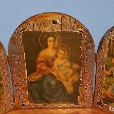 Arte: TRÍPTICO ANTIGUO RELIGIOSO. Lote 114710087