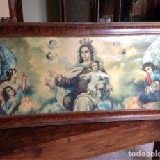 Arte: ANTIGUO CUADRO PANORÁMICO RELIGIOSO DE LA VIRGEN DEL CARMEN. Lote 114751283