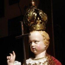 Arte: NIÑO JESUS ESCUELA PARISINA SXIX DIVINO REDENTOR TALLA DE MADERA 90CM GRANDES MEDIDAS. Lote 114884759