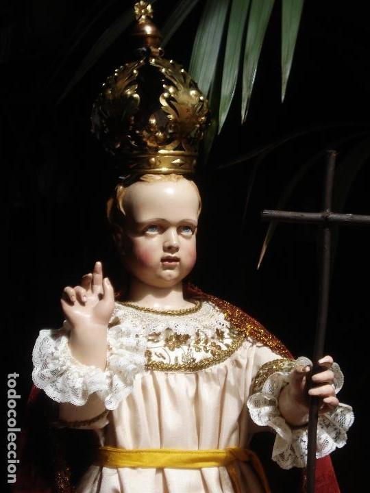 Arte: NIÑO JESUS ESCUELA PARISINA SXIX DIVINO REDENTOR TALLA DE MADERA 90CM GRANDES MEDIDAS - Foto 6 - 114884759