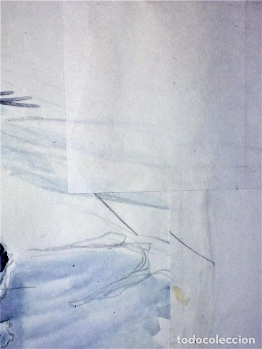 Arte: JESUCRISTO RESUCITADO. ACUARELA SOBRE PAPEL. ATRIB. GORGUES. ESPAÑA. CIRCA 1950 - Foto 6 - 115218663