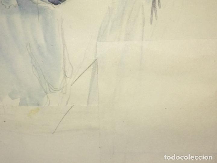 Arte: JESUCRISTO RESUCITADO. ACUARELA SOBRE PAPEL. ATRIB. GORGUES. ESPAÑA. CIRCA 1950 - Foto 9 - 115218663