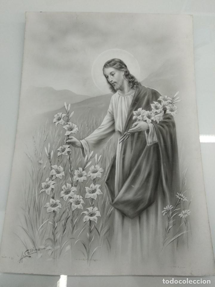 Arte: DIBUJO ORIGINAL DE JESUS DEL ILUSTRADOR ANTONIO COLLINO A. KOLLIN ITALIA MILAN CARTELISTA - Foto 2 - 115222071