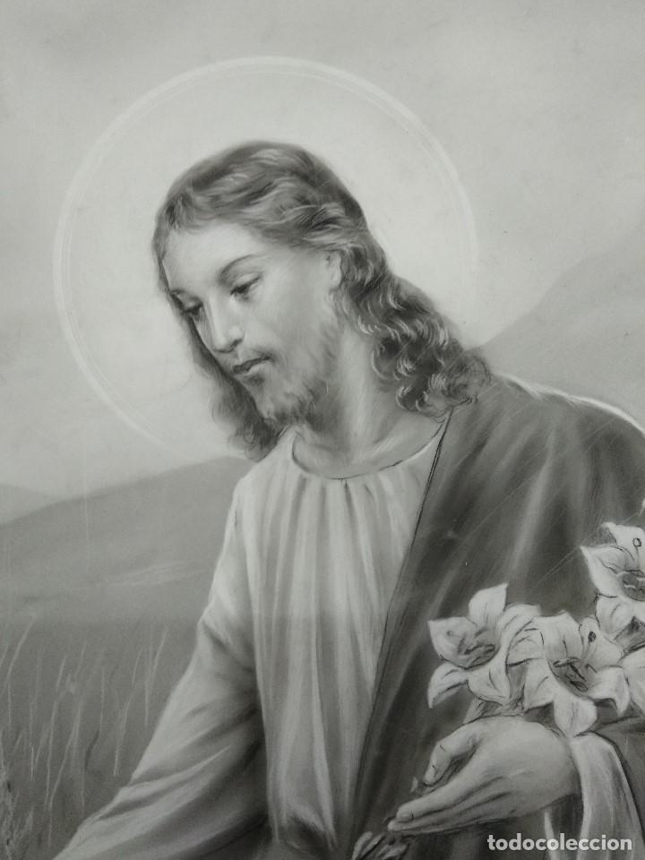 Arte: DIBUJO ORIGINAL DE JESUS DEL ILUSTRADOR ANTONIO COLLINO A. KOLLIN ITALIA MILAN CARTELISTA - Foto 3 - 115222071