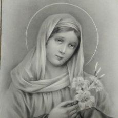 Arte: DIBUJO ORIGINAL DE LA VIRGEN MARIA DEL ILUSTRADOR ANTONIO COLLINO A. KOLLIN ITALIA MILAN CARTELISTA. Lote 115226563