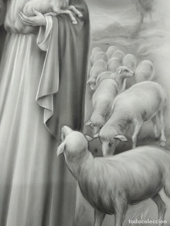 Arte: DIBUJO ORIGINAL DE JESUCRISTO PASTOR ILUSTRADOR ANTONIO COLLINO A. KOLLIN ITALIA MILAN CARTELISTA - Foto 6 - 115234971