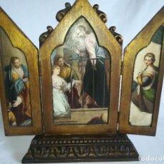 Arte: TRIPTICO EN MADERA CON MOTIVOS RELIGIOSOS. Lote 115241455