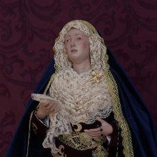 Arte: VIRGEN DOLOROSA DE 57 CTM DE ALTURA Y VESTIDA. Lote 115252915