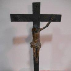 Arte: ANTIGUO CALVARIO DE MADERA CON CRISTO - SIGLO XVII -XVIII -. Lote 115253539