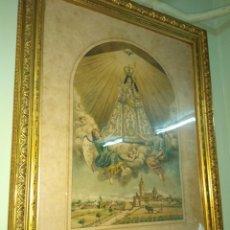 Arte: ANTIGUO CUADRO NUESTRA SEÑORA DE SALES - PATRONA DE LA VILLA DE SUECA - VALENCIA. Lote 115309490