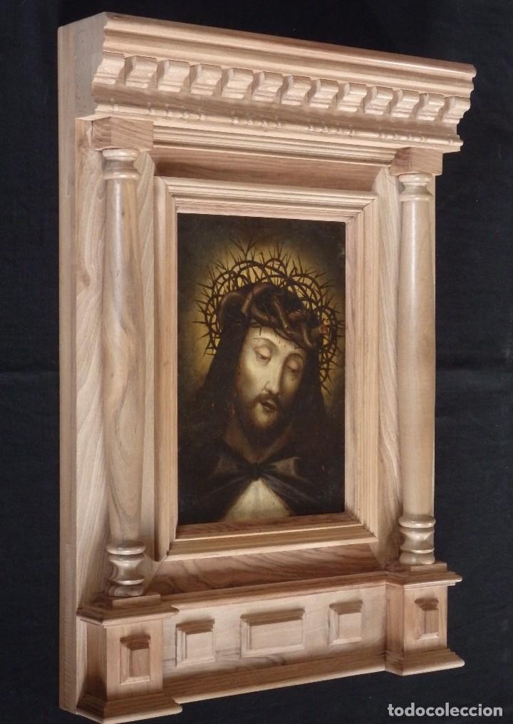 Arte: Ecce Homo. Oleo sobre cobre de la escuela italiana del siglo XVI. Medidas de 27 x 19 cm. - Foto 14 - 115527943