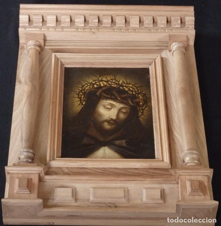 Arte: Ecce Homo. Oleo sobre cobre de la escuela italiana del siglo XVI. Medidas de 27 x 19 cm. - Foto 13 - 115527943