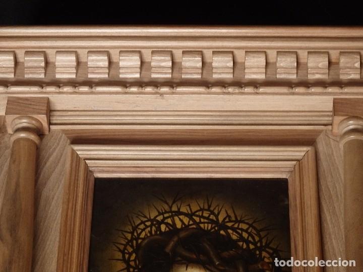 Arte: Ecce Homo. Oleo sobre cobre de la escuela italiana del siglo XVI. Medidas de 27 x 19 cm. - Foto 17 - 115527943