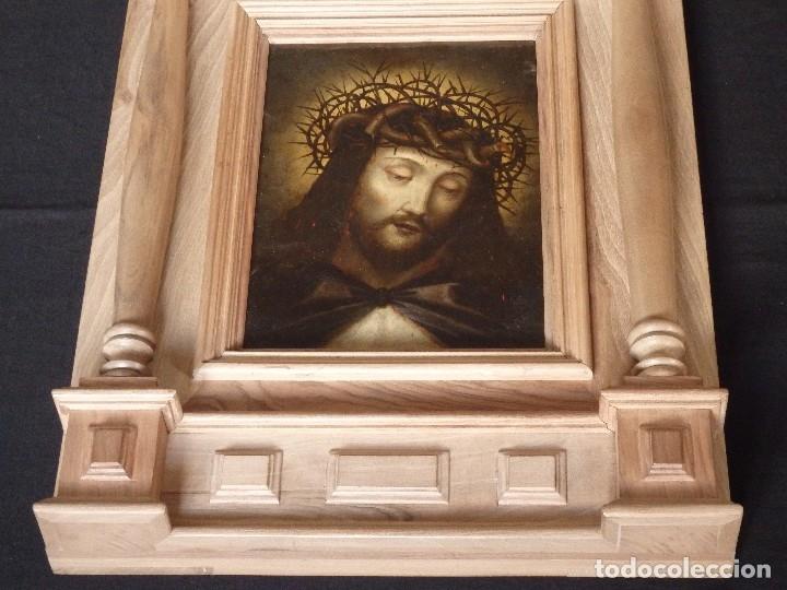 Arte: Ecce Homo. Oleo sobre cobre de la escuela italiana del siglo XVI. Medidas de 27 x 19 cm. - Foto 12 - 115527943