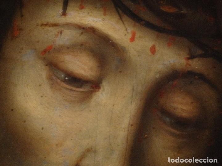 Arte: Ecce Homo. Oleo sobre cobre de la escuela italiana del siglo XVI. Medidas de 27 x 19 cm. - Foto 8 - 115527943
