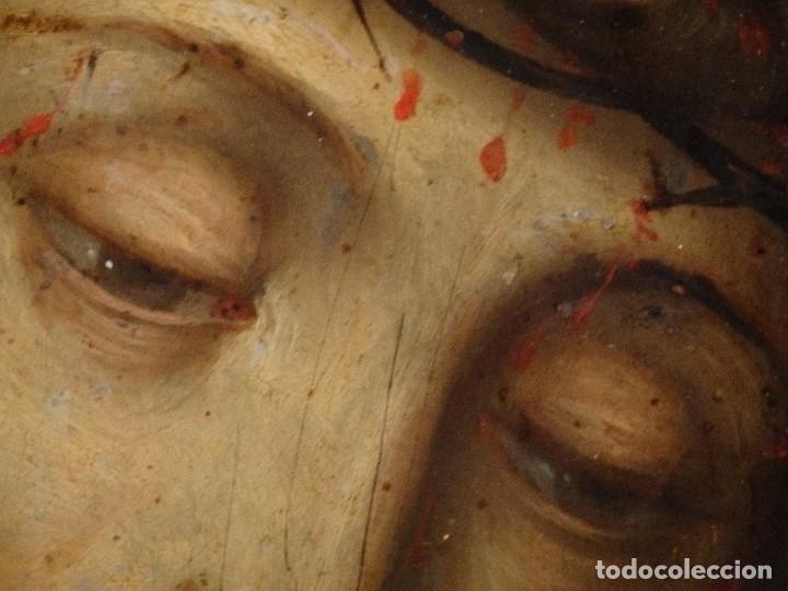 Arte: Ecce Homo. Oleo sobre cobre de la escuela italiana del siglo XVI. Medidas de 27 x 19 cm. - Foto 9 - 115527943