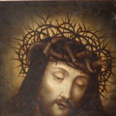 Arte: ECCE HOMO. OLEO SOBRE COBRE DE LA ESCUELA ITALIANA DEL SIGLO XVI. MEDIDAS DE 27 X 19 CM.. Lote 115527943