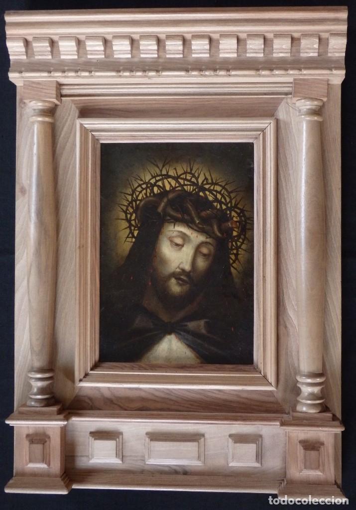 Arte: Ecce Homo. Oleo sobre cobre de la escuela italiana del siglo XVI. Medidas de 27 x 19 cm. - Foto 2 - 115527943