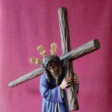 Arte: CRISTO - JESUS NAZARENO CON LA CRUZ A CUESTA - GRAN PODER DE SEVILLA - OLOT S.XIX. Lote 115550287