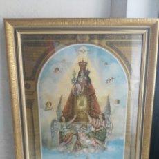 Arte: SUECA- NUESTRA SEÑORA DE SALES- CARTEL DE SU CORONACIÓN AÑO 1952-ENMARCADO CON CRISTAL.. Lote 115566052