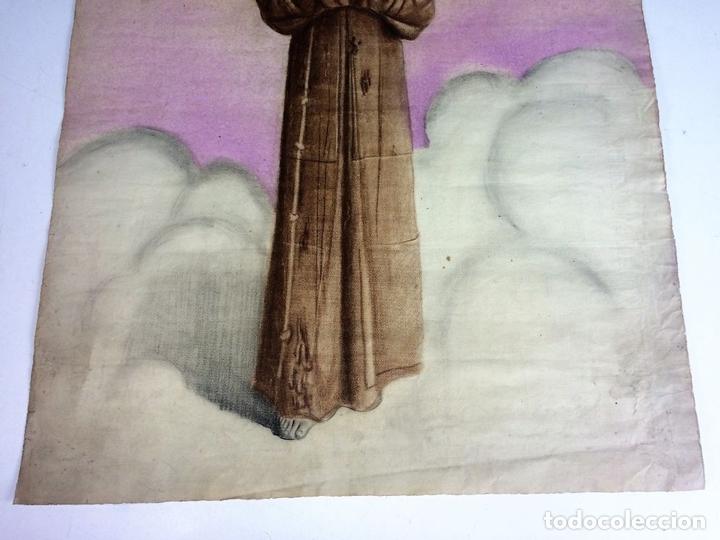 Arte: RETRATO DE FRAILE FRANCISCANO. PASTEL SOBRE PAPEL. ESPAÑA. XIX-XX - Foto 3 - 115588311
