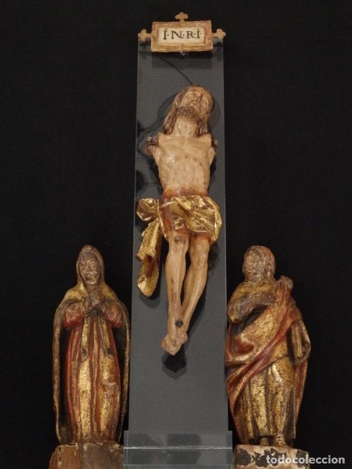 Arte: Calvario en madera policromada y dorada. Siglo XVII. - Foto 8 - 115625335