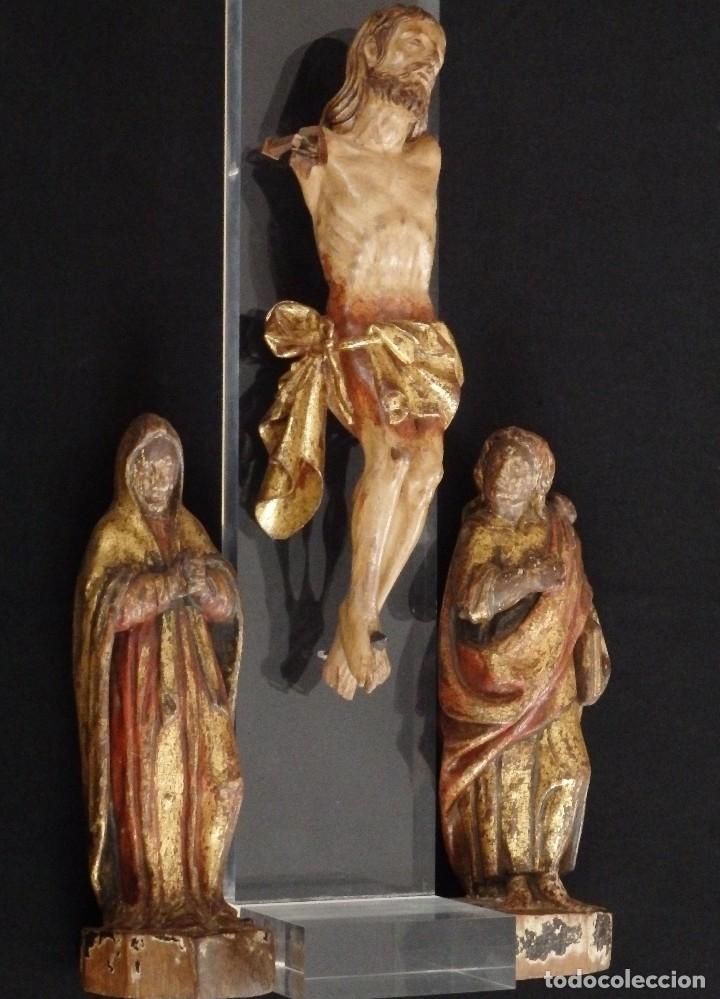Arte: Calvario en madera policromada y dorada. Siglo XVII. - Foto 9 - 115625335