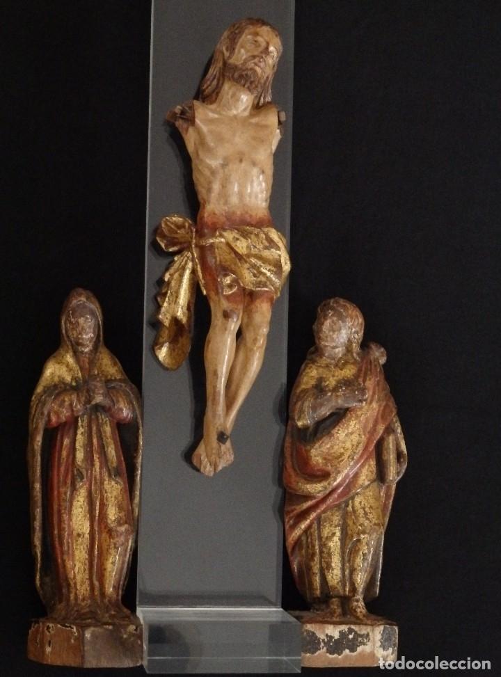 Arte: Calvario en madera policromada y dorada. Siglo XVII. - Foto 10 - 115625335