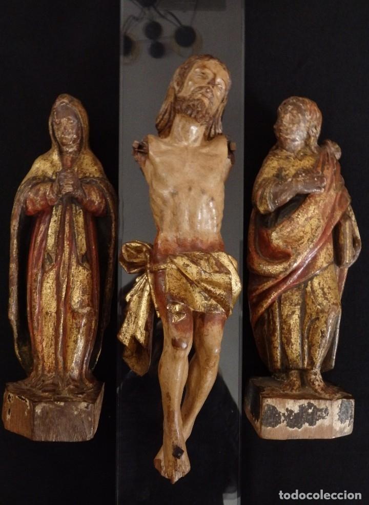 Arte: Calvario en madera policromada y dorada. Siglo XVII. - Foto 11 - 115625335