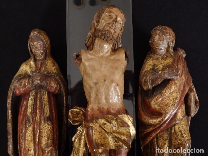 Arte: Calvario en madera policromada y dorada. Siglo XVII. - Foto 12 - 115625335
