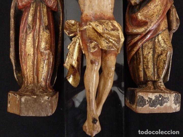 Arte: Calvario en madera policromada y dorada. Siglo XVII. - Foto 14 - 115625335