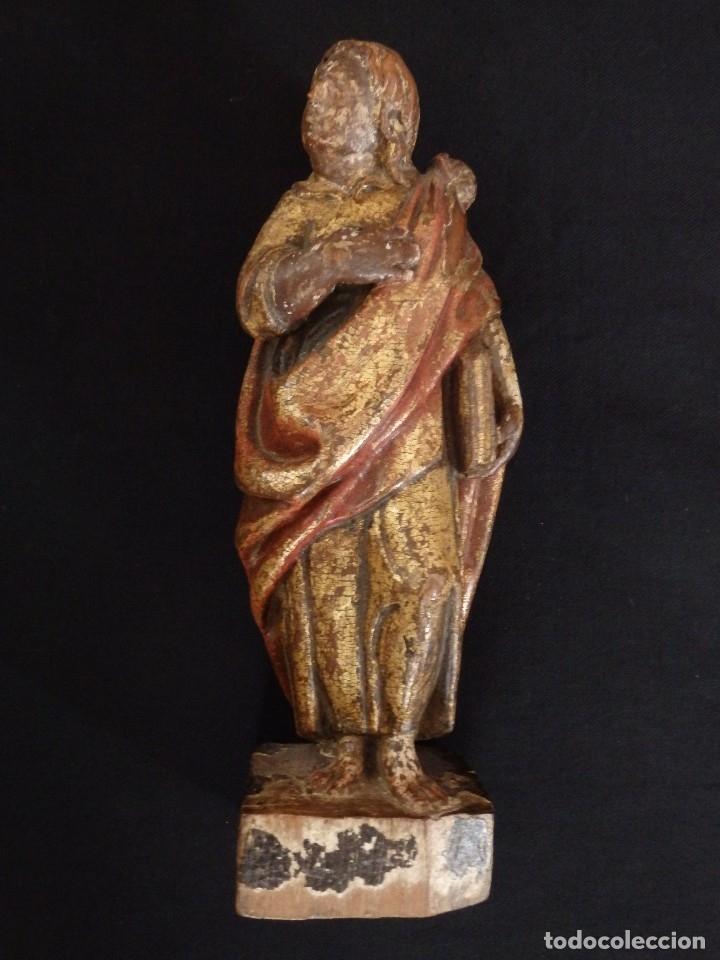 Arte: Calvario en madera policromada y dorada. Siglo XVII. - Foto 15 - 115625335