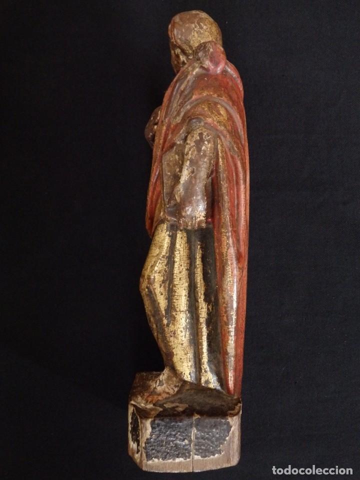 Arte: Calvario en madera policromada y dorada. Siglo XVII. - Foto 17 - 115625335
