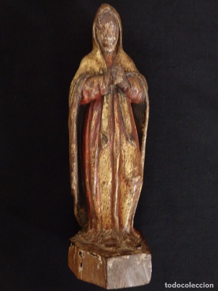 Arte: Calvario en madera policromada y dorada. Siglo XVII. - Foto 19 - 115625335