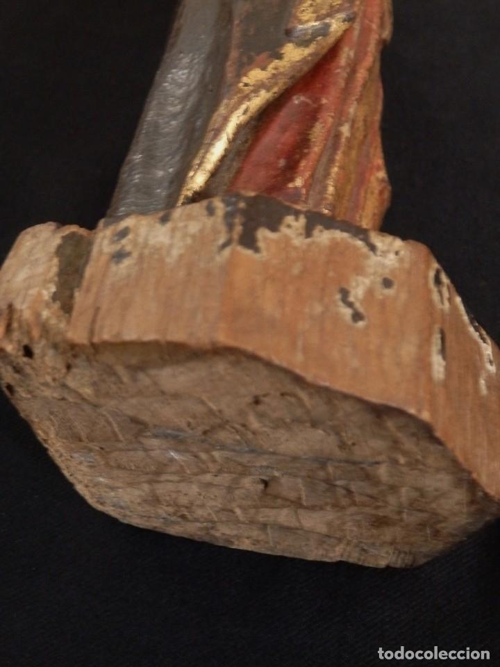 Arte: Calvario en madera policromada y dorada. Siglo XVII. - Foto 22 - 115625335