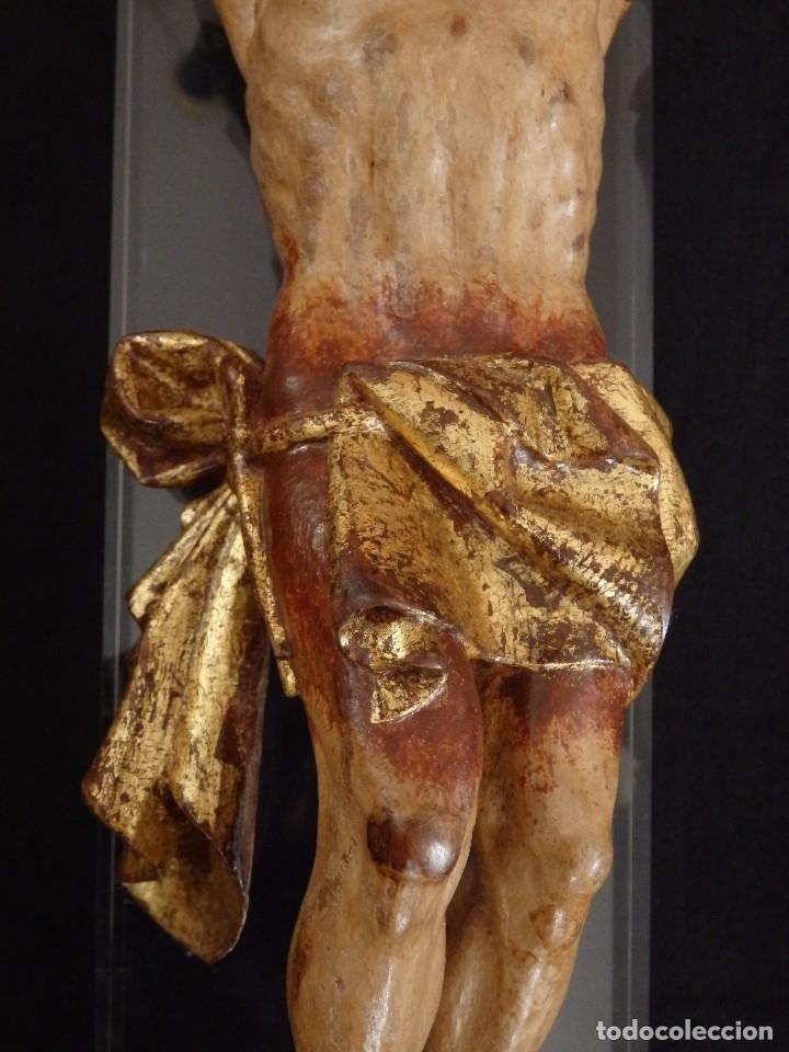 Arte: Calvario en madera policromada y dorada. Siglo XVII. - Foto 27 - 115625335